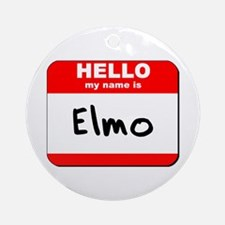 Hello my name is Elmo Ornament (Round)