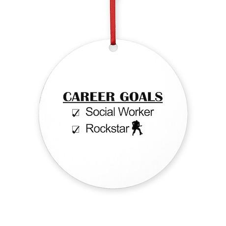 Social Worker Career Goals - Rockstar Ornament (Ro