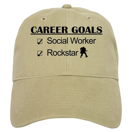 Social Worker Career Goals - Rockstar Cap