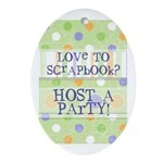 Love to Scrapbook Oval Ornament