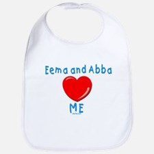 Eema and Abba Love Me Jewish Bib
