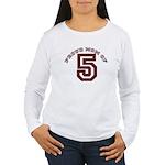 Proud Mom of 5 Women's Long Sleeve T-Shirt