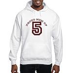 Proud Mom of 5 Hooded Sweatshirt