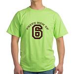 Proud Mom of 6 Green T-Shirt