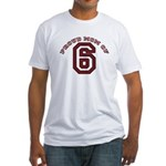 Proud Mom of 6 Fitted T-Shirt