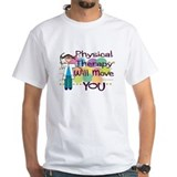 Physical therapy Mens Classic White T-Shirts