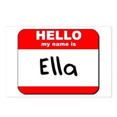 Hello my name is Ella Postcards (Package of 8)