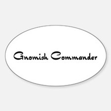 Gnomish Commander Oval Decal