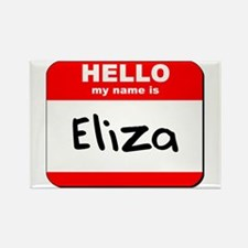 Hello my name is Eliza Rectangle Magnet