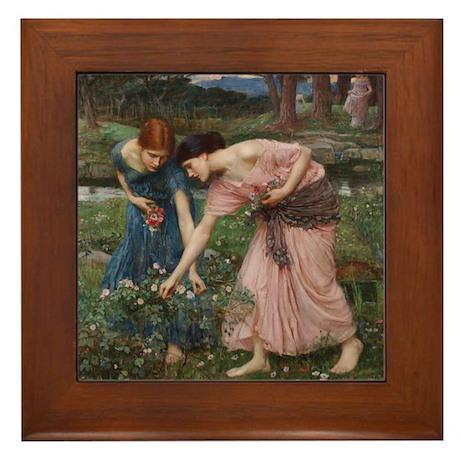 """""""Gather Ye Rosebuds"""" - Framed Tile"""