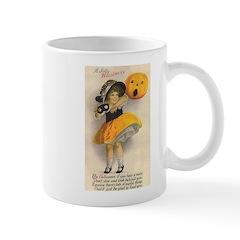 Girl With Pumpkin Mug