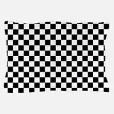Black White Checkered Pillow Case