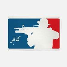 Major League type Infidel Rectangle Magnet