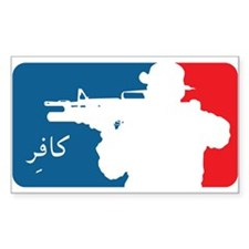 Major League type Infidel Rectangle Stickers