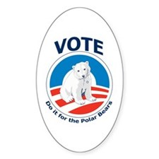 Vote - Do it For Polar Bears Oval Decal