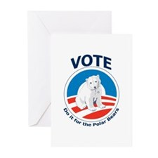 Vote - Do it For Polar Bears Greeting Cards (Pk of