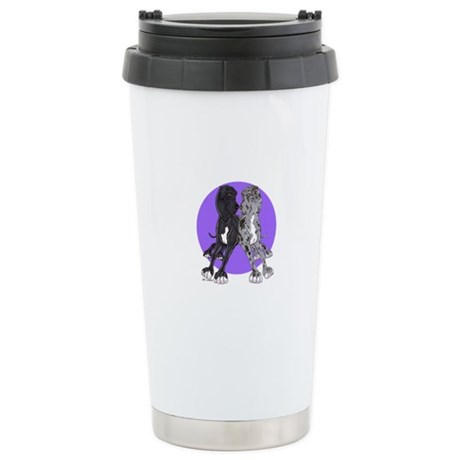 NN Purple Dot Stainless Steel Travel Mug
