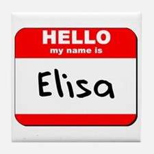 Hello my name is Elisa Tile Coaster