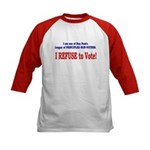 NO VOTE #3 Kids Baseball Jersey