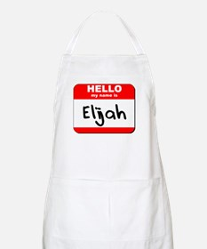 Hello my name is Elijah BBQ Apron