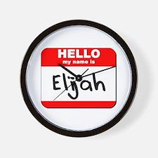Hello my name is Elijah Wall Clock