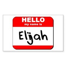 Hello my name is Elijah Rectangle Decal
