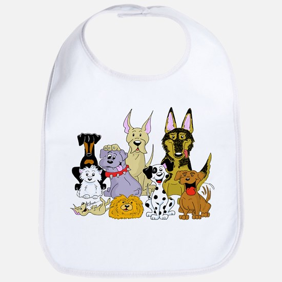 Cartoon Dog Pack Bib
