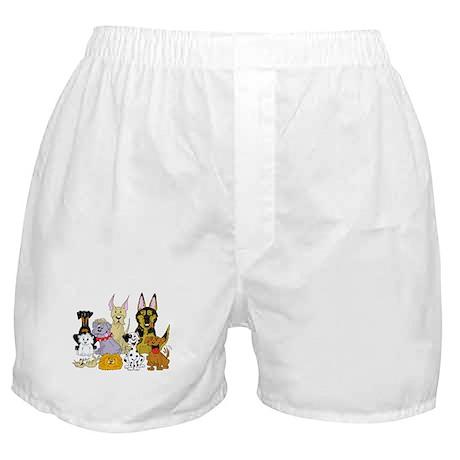 Cartoon Dog Pack Boxer Shorts