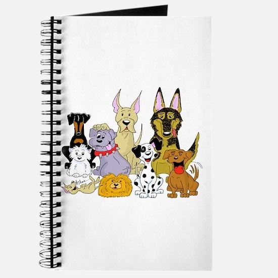Cartoon Dog Pack Journal