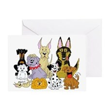 Cartoon Dog Pack Greeting Card