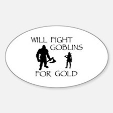 Warrior Woman Quests for Gold Decal