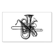 Brass & Sax Rectangle Decal