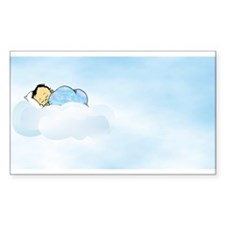 Boy's Baptism Rectangle Decal