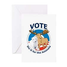 Vote - Do It for the Animals Greeting Cards (Pk of