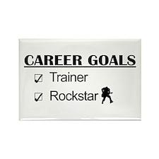 Trainer Career Goals - Rockstar Rectangle Magnet