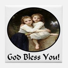 Sisters God Bless You Tile Coaster