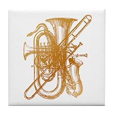 """Brass"" Brass & Sax Tile Coaster"