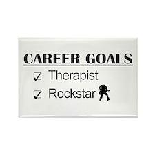 Therapist Career Goals - Rockstar Rectangle Magnet