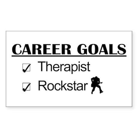 Therapist Career Goals - Rockstar Sticker (Rectang
