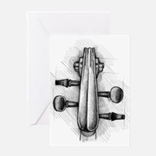 Violin Peghead Greeting Card