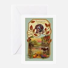 Vintage Rural Thanksgiving Greetings Greeting Card