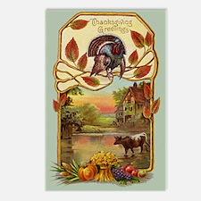 Rural Thanksgiving Greetings Postcards (8 pack)