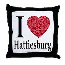 I Love Hattiesburg Throw Pillow