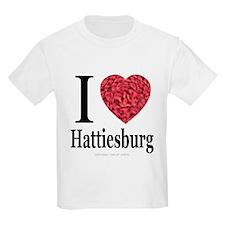 I Love Hattiesburg Kids T-Shirt