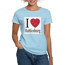 I Love Hattiesburg Women's Pink T-Shirt