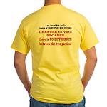 No VOTE #2 Yellow T-Shirt