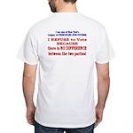 No VOTE #2 White T-Shirt