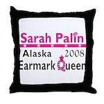 Queen Palin Throw Pillow