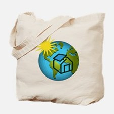 Solar Power Earth Tote Bag