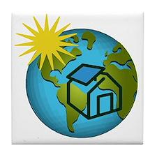 Solar Power Earth Tile Coaster
